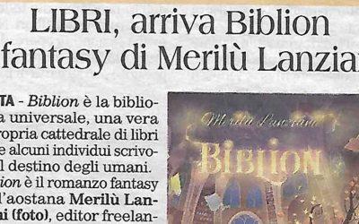 LIBRI, arriva Biblion il fantasy di Merilù Lanziani