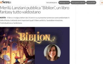 """Merilù Lanziani pubblica """"Biblion"""", un libro fantasy tutto valdostano"""